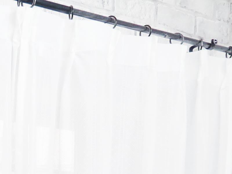 コーディネートしやすいシンプルデザイン!洗える日本製の防炎・遮熱レースカーテン 『ルワロ』