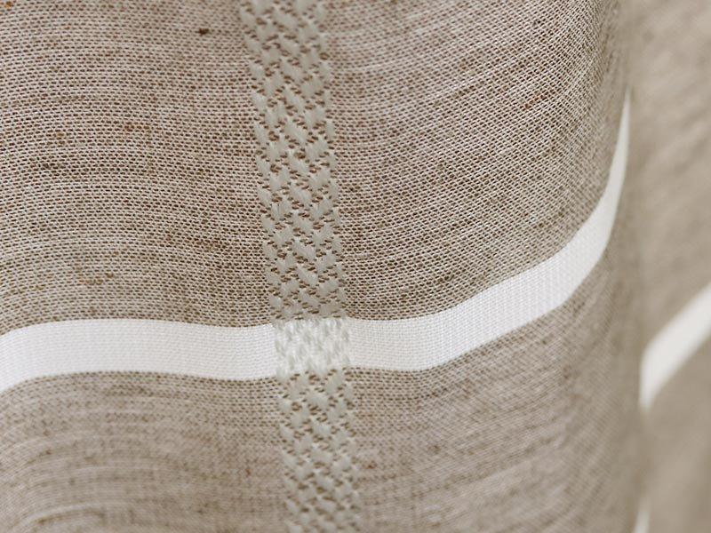 安心の日本製!優しく光を取り込む非遮光チェック柄カーテン 『オリナス ブラウン』