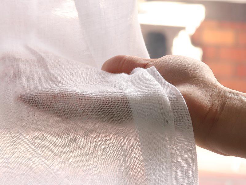 リネン100%!天然素材のおしゃれな国産レースカーテン 『ノルカ ホワイト』