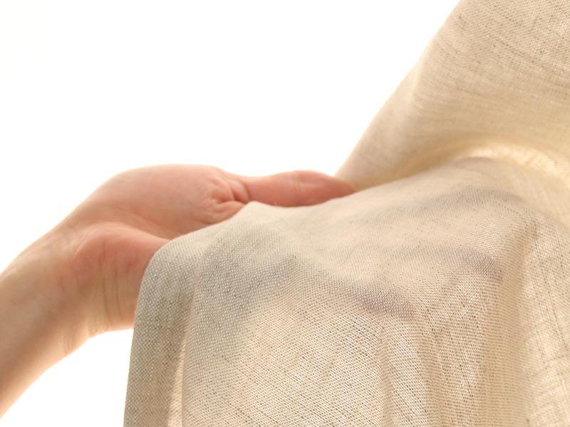 リネン100%!中厚手生地の洗いざらし風合いがナチュラルなカーテン 『トワエ アイボリー』