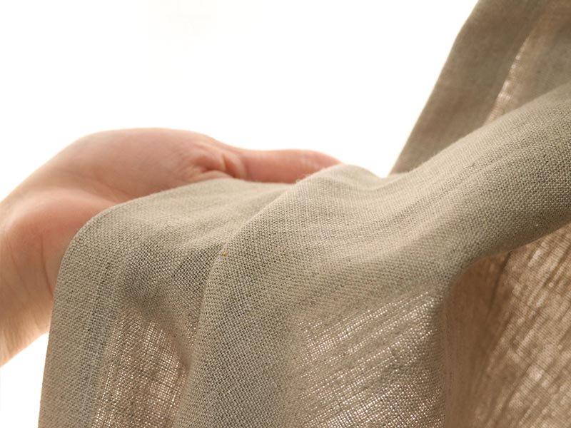 リネン100%!中厚手生地の洗いざらし風合いがナチュラルなカーテン 『トワエ ベージュ』