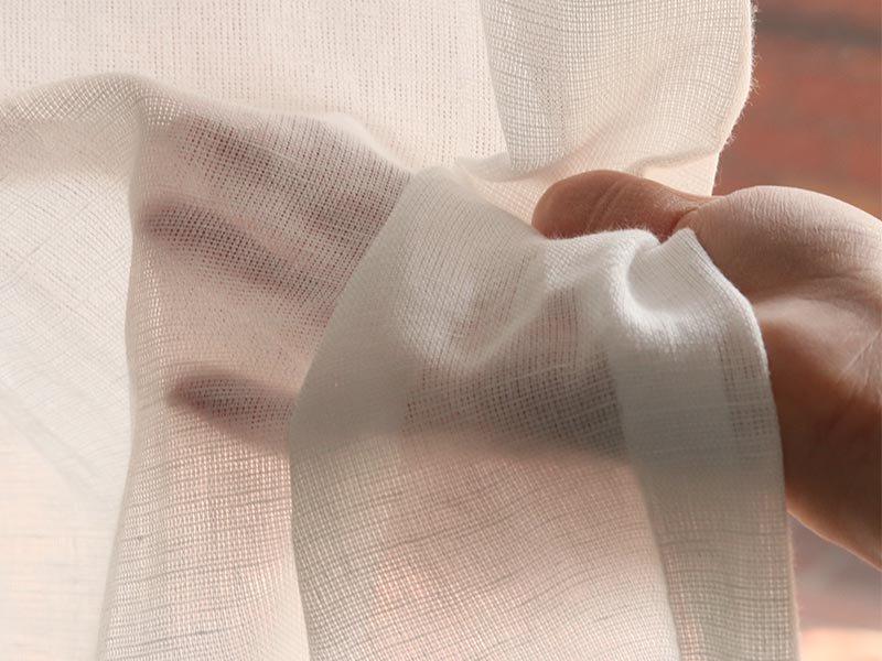 綿麻混の天然素材!自然なシルエットが美しい安心の国産レースカーテン 『ソボ』