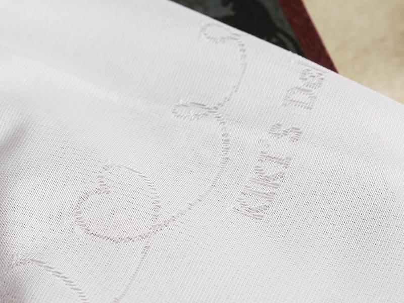 ジブリシリーズ!魔女の宅急便 の黒猫ジジとハート柄が可愛いレースカーテン 『ハートジジ』
