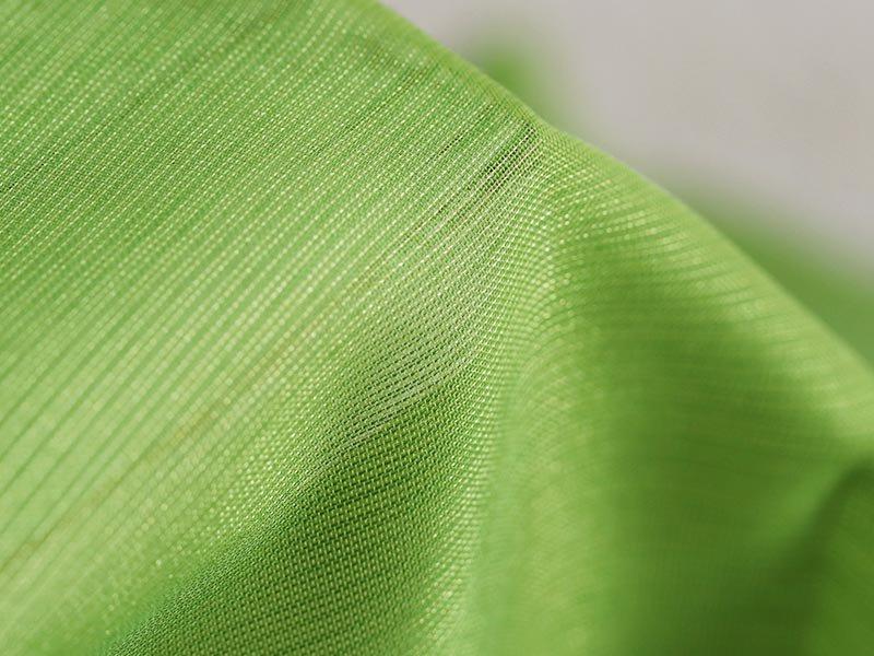自然な透け感で窓辺を彩る!カラーとシルエットが美しいレースカーテン 『シエント グリーン』