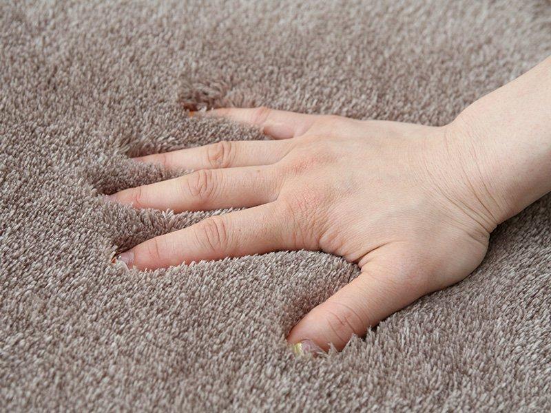 大人気!洗えるスベリ止め付きマイクロファイバーラグ 『スムース/アイボリー』