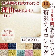大人気!高級ナイロン素材100%のツイストシャギーラグ 140x200cm ジャスパー■完売