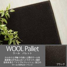 空気を洗うトリプルフレッシュ!ウール100%の100サイズカーペット【ウールパレット ブラック】