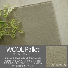 空気を洗うトリプルフレッシュ!ウール100%の100サイズカーペット【ウールパレット ペールグリーン】