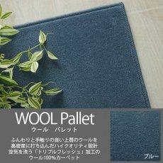 空気を洗うトリプルフレッシュ!ウール100%の100サイズカーペット【ウールパレット ブルー】