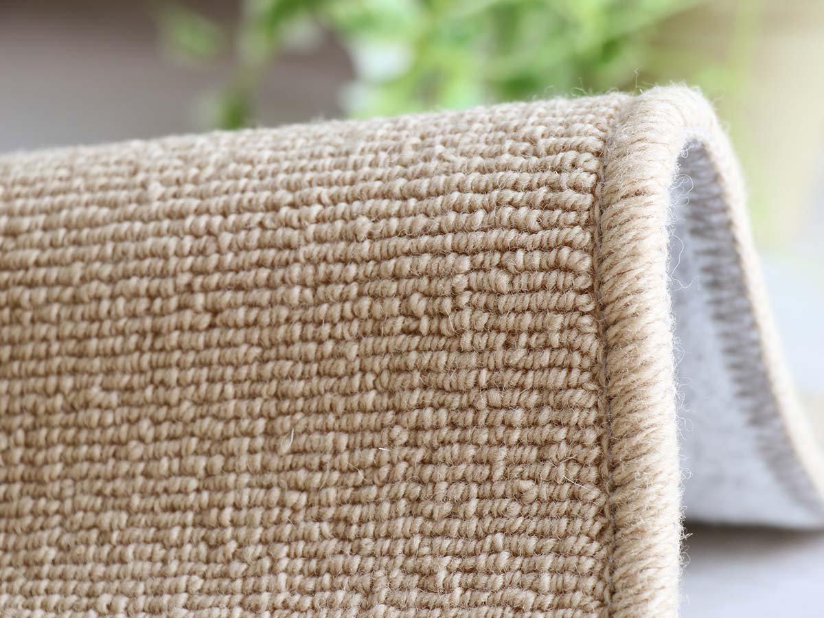羊毛100%ループタイプ100サイズオーダーカーペット【コリエ ベージュ】