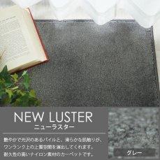 100サイズ 光沢感が美しいなめらか素材のナイロンカーペット 【ニューラスター グレー】