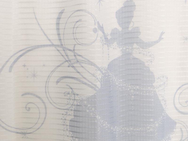 お部屋を楽しく飾る!日本製ディズニー柄レースカーテン 『シンデレラシルエット レース』