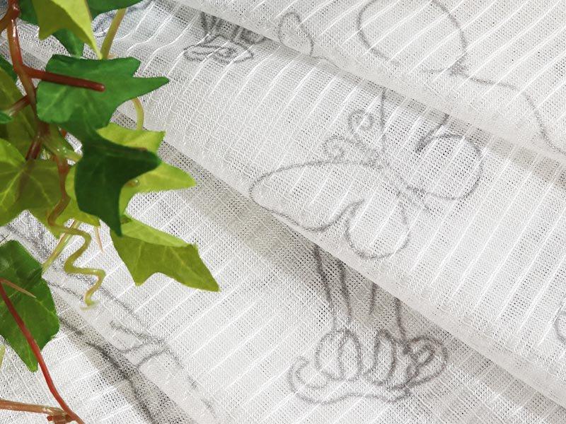 お部屋を楽しく飾る!日本製ディズニー柄レースカーテン 『フラワープー レース』