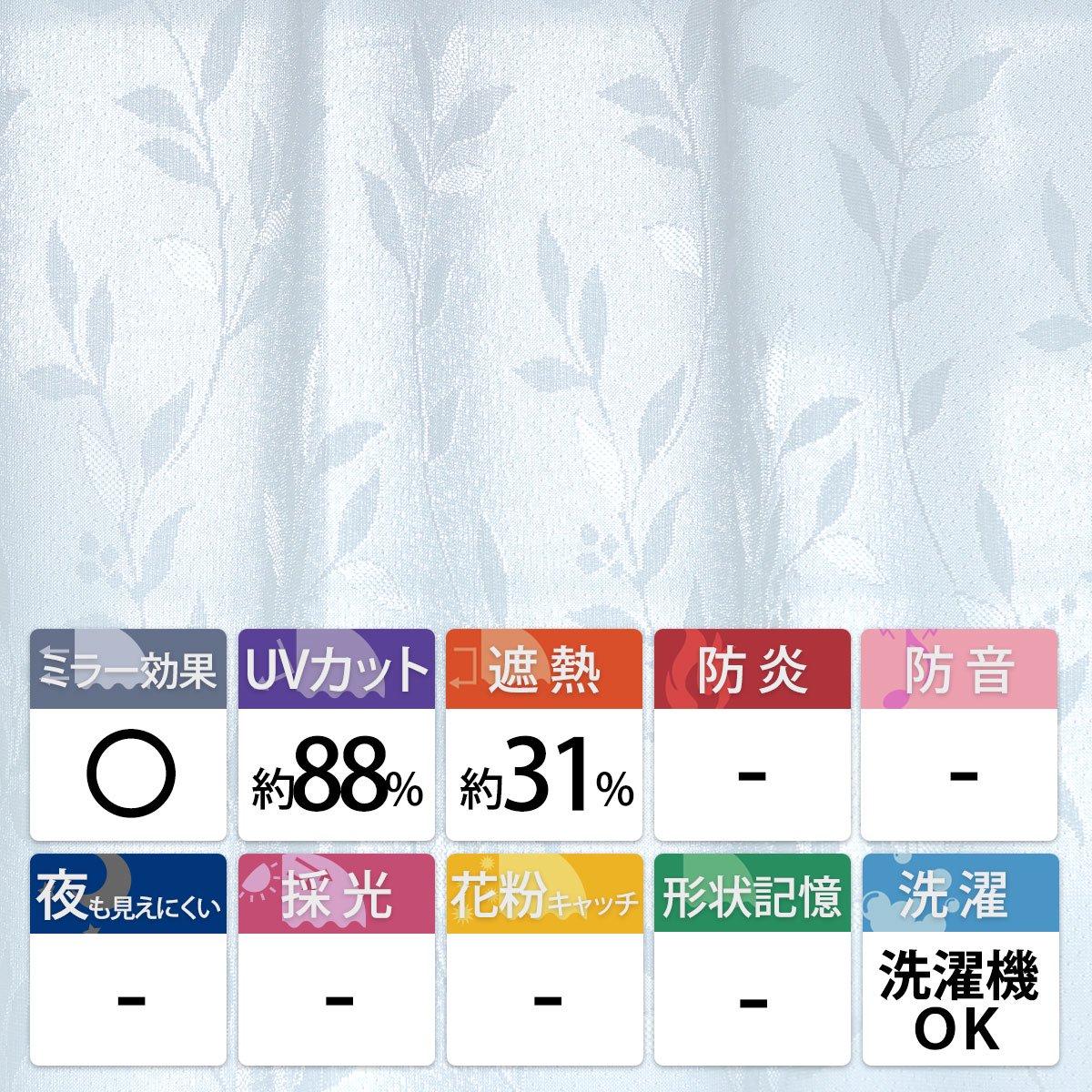 安心の日本製!一年中使える機能充実のレースカーテン『リリーフ』