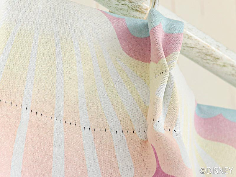 100サイズから選べる!お洒落ディズニー遮光カーテン 『プリンセスシェル ピンク』