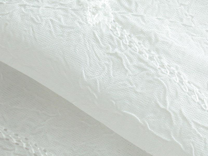 100サイズから選べる!美しいデザインのクラッシュボイル加工のレースカーテン『カザン』