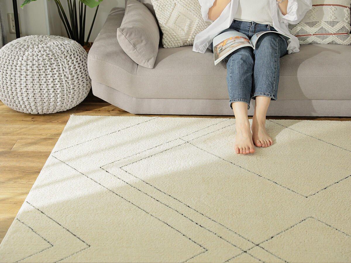 防ダニ・抗菌・消臭・ウィルス花粉対策に国産高機能ラグ『ポッシュ スクエア』