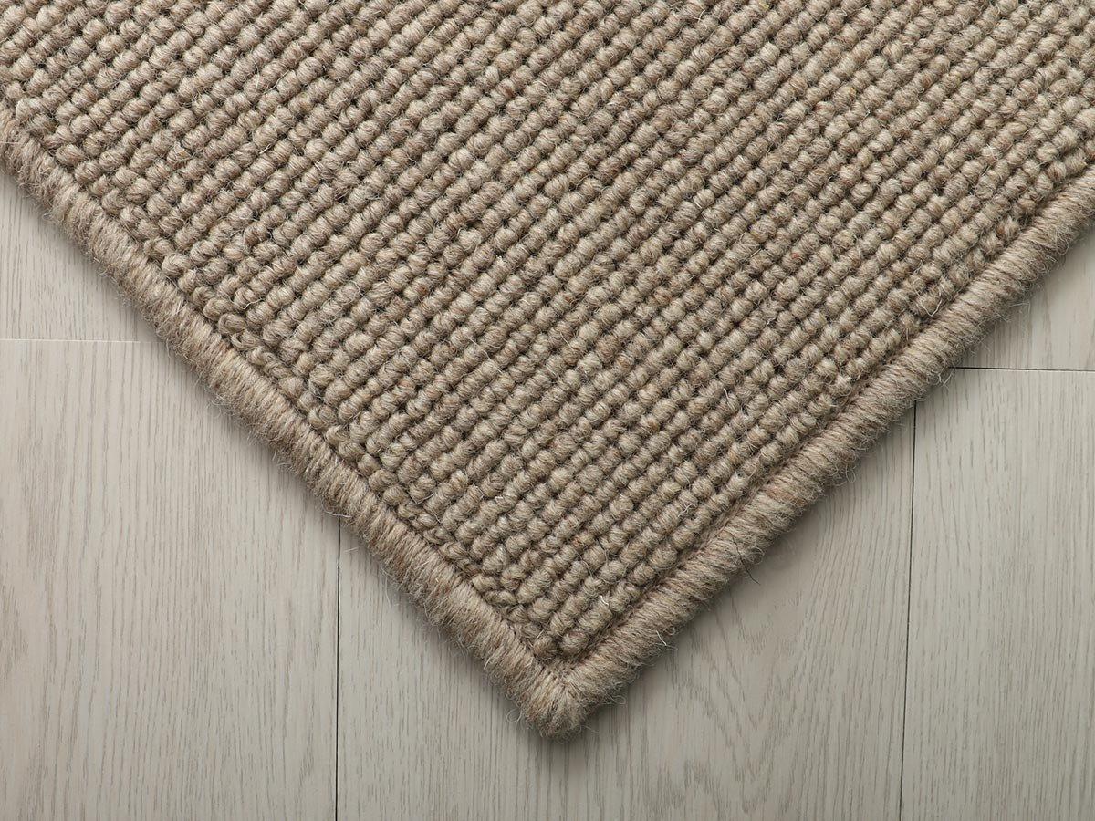 100サイズ 上質感のある高機能無染色ウール100%カーペット【アシカート ブラウン】