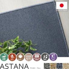 100サイズ 安心のアース防ダニ加工高機能カーペット【アスタナ ブルー】