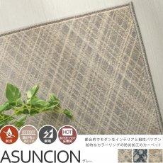 100サイズ 知的なカラーリングのウィルトン織カーペット【アスンシオン グレー】■完売