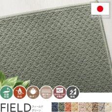 100サイズ びっくりするほど汚れが落ちるカーペット【フィールド グリーン】