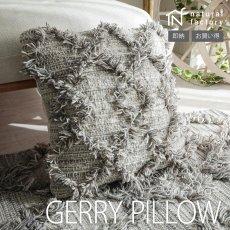 上質のウールを使用したモダンデザインクッションカバー『ゲリー グレー 約45x45cm』■完売