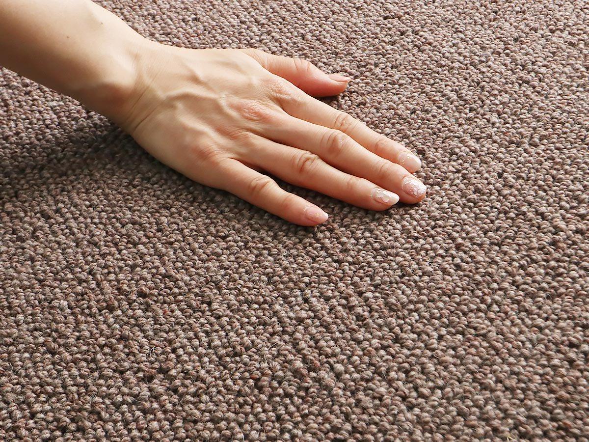 高級羊毛100%ナチュラルカーペット『ピュアウール2 ブラウン』