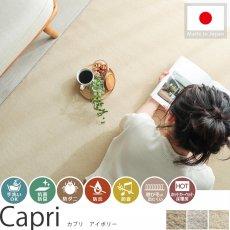 毎日の生活に嬉しい機能装備!日本製カーペット 『カプリ アイボリー』