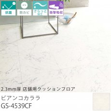 東リ クッションフロア『2.3mm厚 店舗用クッションフロア ビアンコカララ GS-4539CF』
