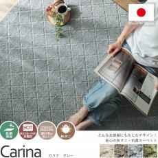 安心の防ダニ・抗菌加工 ナチュラルテイストなデザインのカーペット『カリナ グレー』