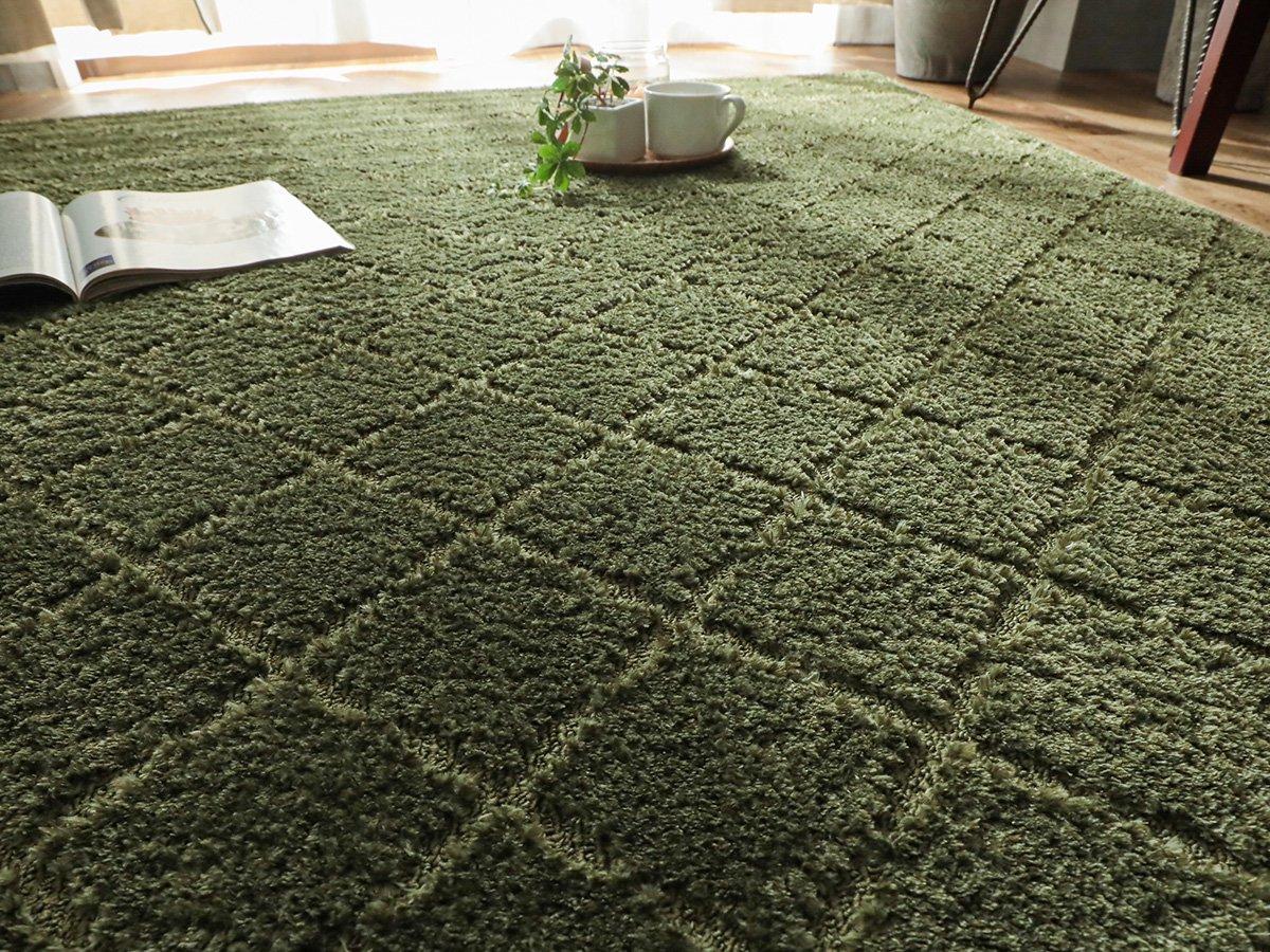 安心の防ダニ・抗菌加工 ナチュラルテイストなデザインのカーペット『カリナ グリーン』