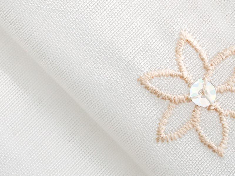 100サイズから選べる!お花刺繍にキラキラのスパンコールを縫い込んだレースカーテン『キラレア』