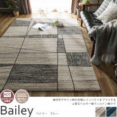 高密度のウィルトン織!お部屋が華やぐベルギー製ラグ 『ベイリー グレー』