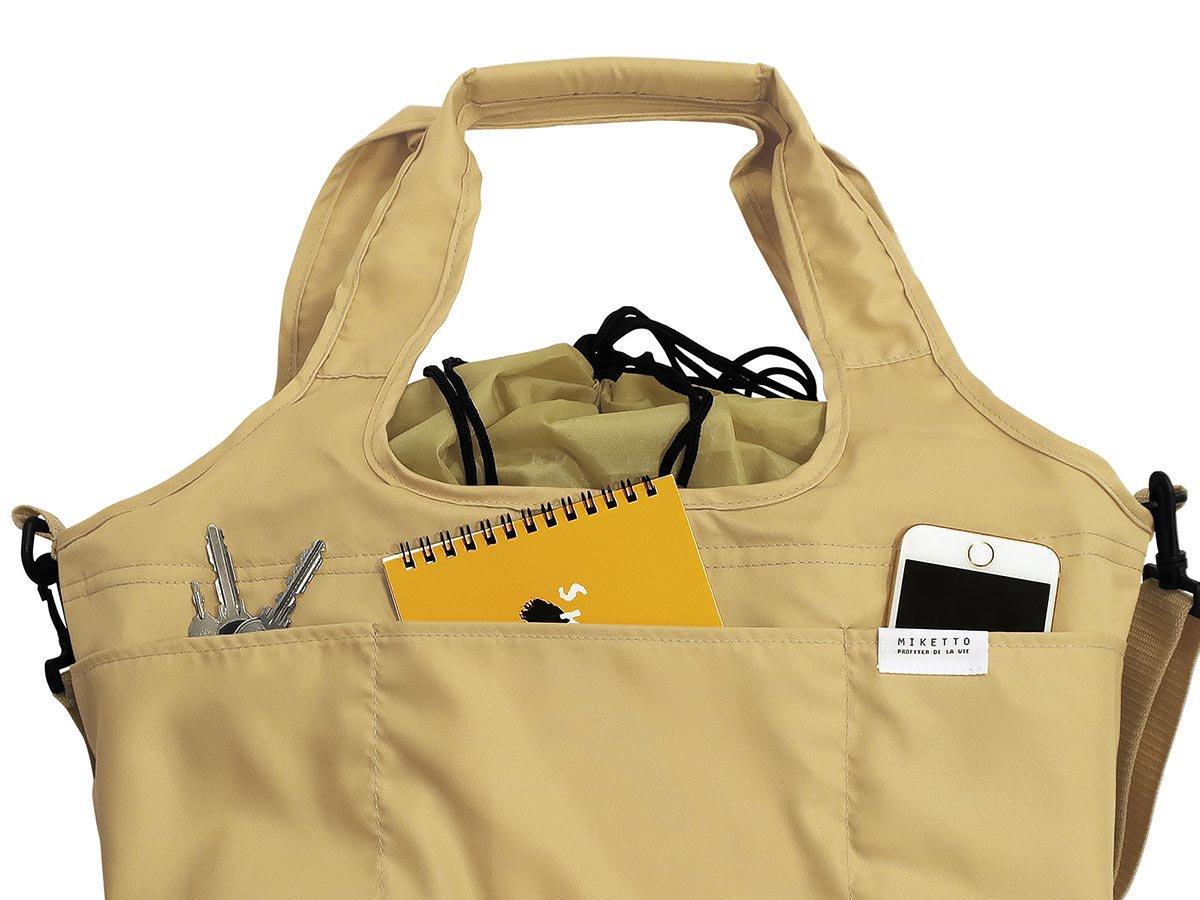 ショルダーorトートどちらでも使える便利な2WAY!保冷できるレジかごバッグ『ミッケ タイプB』■全色:完売