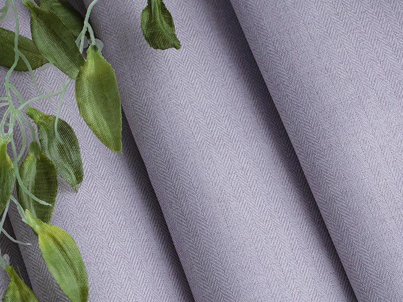 翌々日出荷!丈つめ無料!ヘリンボンの織柄が柔らかな雰囲気の日本製ドレープカーテン 『リトリート  パープル 2枚組』