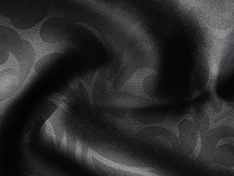 さりげなく見えるボタニカル柄がポイント!キリっと空間を引き締める1級遮光カーテン 『ココア ブラック』