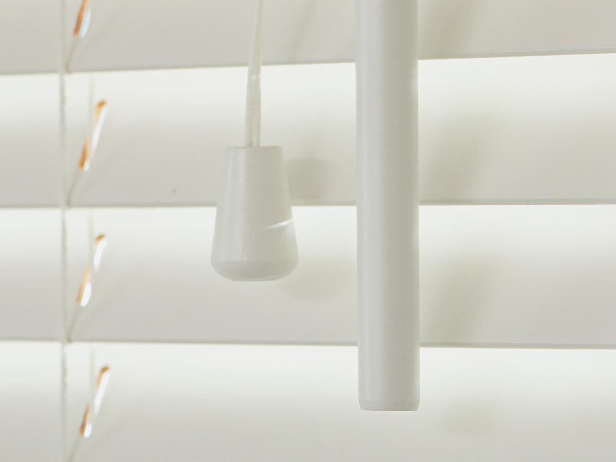 上質な天然木を使用した日本製オーダーウッドブラインド 『ウッドブラインド 標準タイプ ホワイト』