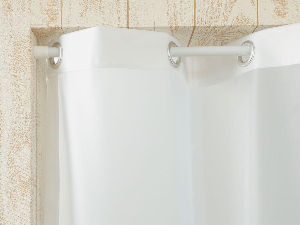 【既製サイズで即納可能】プライバシー保護!冷暖房効率UP!オシャレなビニールカーテン 『シルエットカーテン ホワイト』■予約商品(5月中旬頃入荷予定)