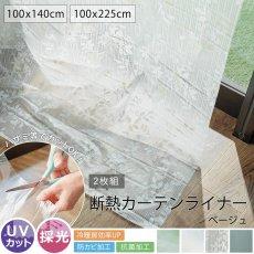 お部屋の冷暖房効率UP!UVカット・防カビ抗菌加工・採光効果 『断熱カーテンライナー2枚入り ベージュ』