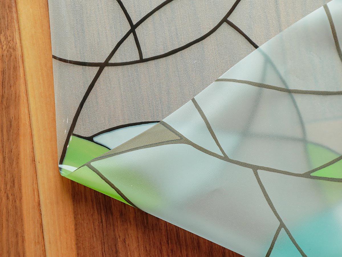接着剤不使用!繰り返し貼ってはがせる!安心の飛散防止効果! 『窓ガラスフィルム 飛散防止タイプ ステンドグラス』