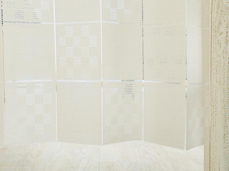 カットOK!抗菌消臭・花粉分解・断熱効果のアコーディオン式カーテン 『ゲリール ベージュ』