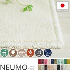 充実機能でずっと清潔に使える!柔らかな肌触りのカットパイル100サイズカーペット『ニューモ アイボリー』