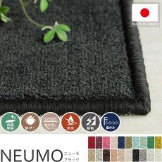 充実機能でずっと清潔に使える!柔らかな肌触りのカットパイル100サイズカーペット『ニューモ ブラック』
