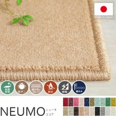 充実機能でずっと清潔に使える!柔らかな肌触りのカットパイル100サイズカーペット『ニューモ ココア』