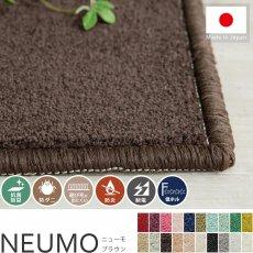 充実機能でずっと清潔に使える!柔らかな肌触りのカットパイル100サイズカーペット『ニューモ ブラウン』