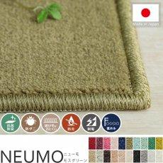 充実機能でずっと清潔に使える!柔らかな肌触りのカットパイル100サイズカーペット『ニューモ モスグリーン』