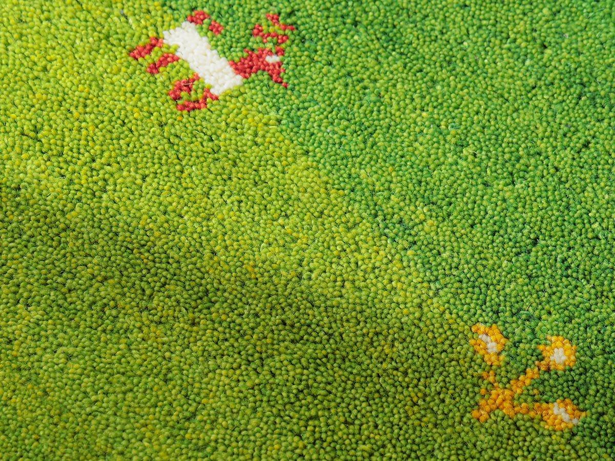 優しいタッチのニュージーランドウール100%伝統柄のギャッベマット『ネウラ』■60x90:欠品中(次回入荷未定)