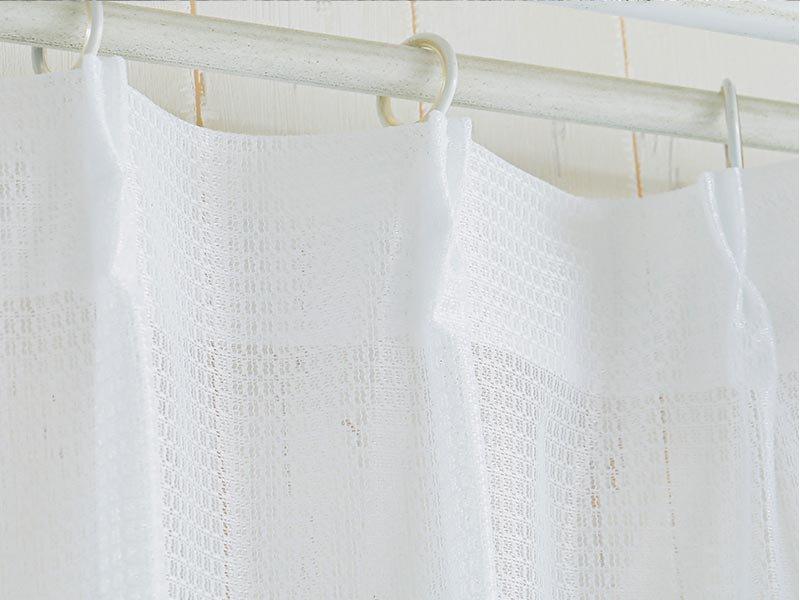 【激安!サイズ限定で即納可能】シンプルなミラーレースカーテン 『プレオ 2枚組』