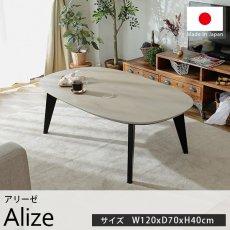 オールシーズン使える!国産材使用のカジュアルテイストのこたつテーブル『アリーゼ 約120cmx70cmx40cm』
