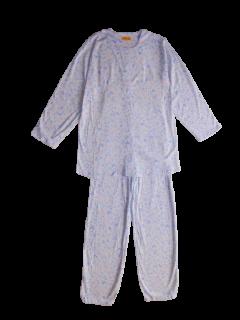 婦人 長袖 前開きパジャマ<br>「夢の花」
